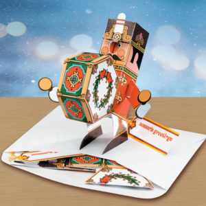 Drummer Boy Holiday Pop Up Christmas Card Ornament